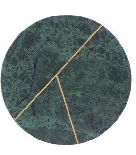 Dcouper round marble plate green