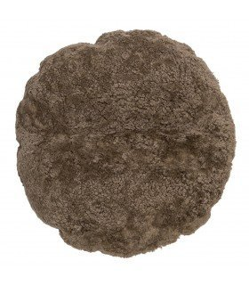 Round cushion fur gray lamb BLOOMINGVILLE