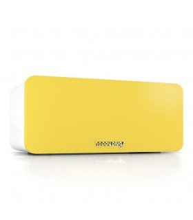 Enceinte mini bluetooth jaune Happy plug