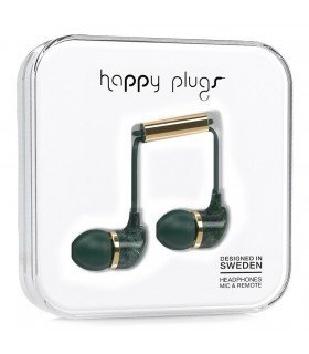 Ecouteurs in-ear Deluxe jade marbre vert Happy Plugs