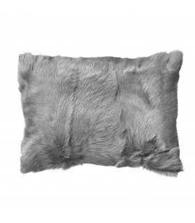 Coussin peau de chèvre gris Bloomingville